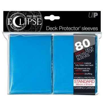 PRO-Matte Eclipse Light Blue Standard Deck Protector sleeves 80ct