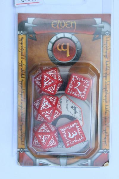 Elven Würfelset Rot Weiß 2W 3W20