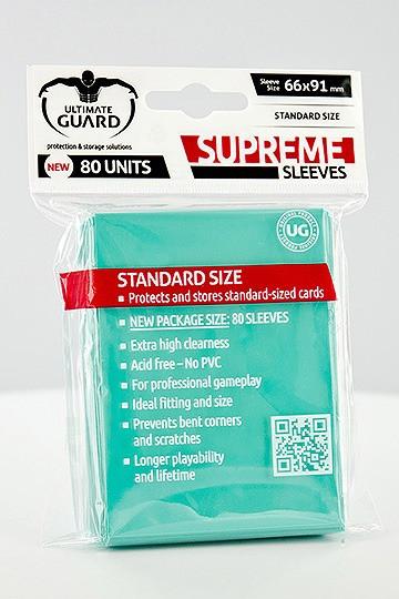 Ultimate Guard Supreme Sleeves Standardgröße Türkis (80)