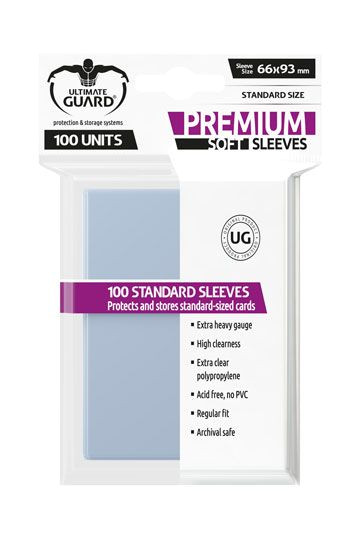 Ultimate Guard Premium Soft Sleeves Standardgröße Transparent (100)