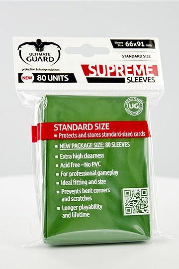 Ultimate Guard Supreme Sleeves Standardgröße Grün (80)