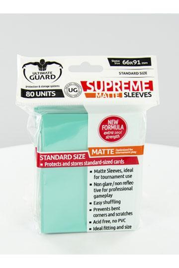 Ultimate Guard Supreme Sleeves Standardgröße Matt Türkis (80)