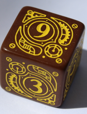 D6 Steampunk Brown & yellow