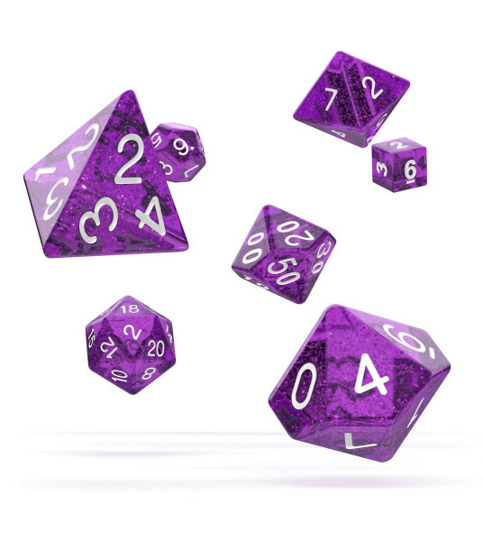 oakie doakie DICE RPG Set Speckled - Purple (7)