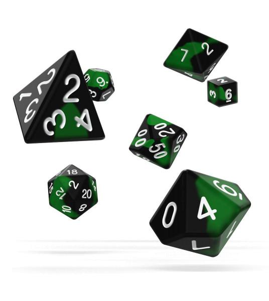 oakie doakie DICE RPG Set Glow in the Dark - Biohazard (7)