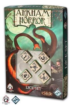 Arkham Horror Beige & Black Dice Set 5