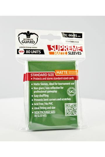 Ultimate Guard Supreme Sleeves Standardgröße Matt Grün (80)