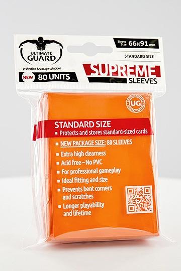 Ultimate Guard Supreme Sleeves Standardgröße Orange (80)