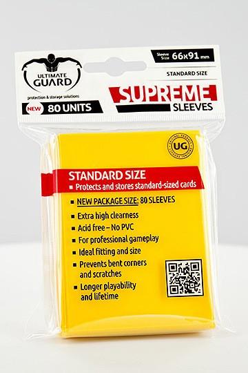 Ultimate Guard Supreme Sleeves Standardgröße Gelb (80)