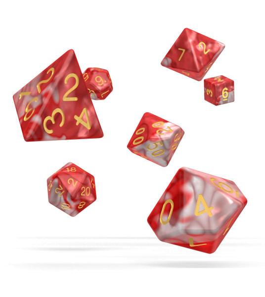 oakie doakie DICE RPG Set Gemidice - Red Sky (7)