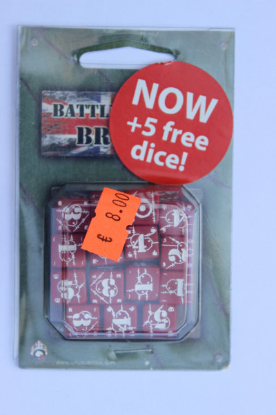Axis & Allis Battle Dice Set British Rot Weiss
