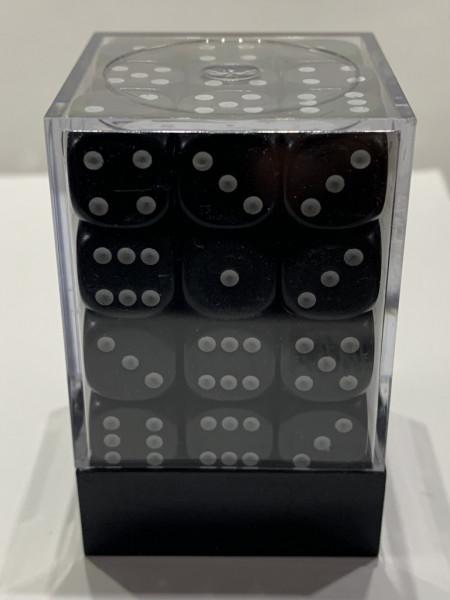 Pegasus Würfel - Opaque: Schwarz (36er-Set in Acrylbox)