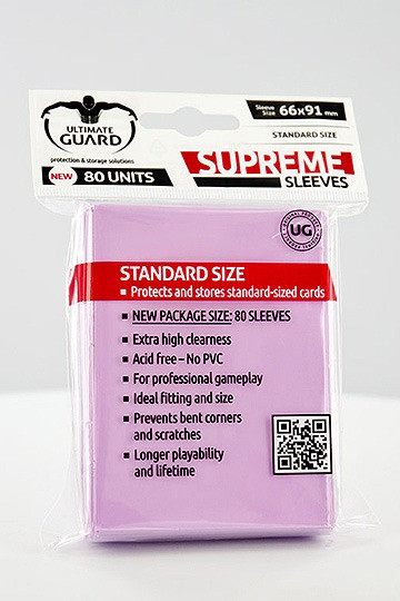 Ultimate Guard Supreme Sleeves Standardgröße Pink (80)