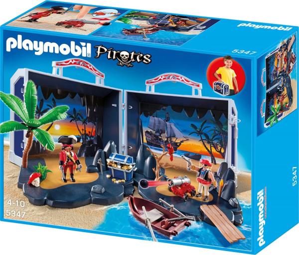 Playmobil 5347 - Piratenschatzkoffer, Aufklapp-Spiel-Box