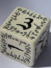 D6 Elvish White & black