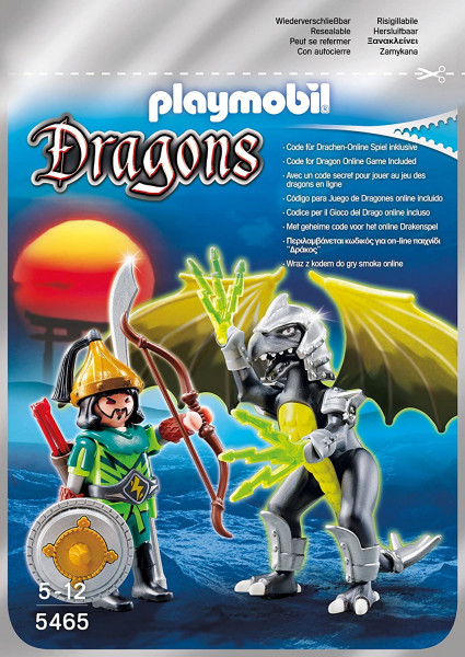 Playmobil 5465 - Storm Dragon mit Kämpfer