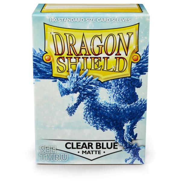 Dragon Shield: Matte Clear Blue (100) *limited*