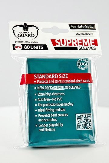 Ultimate Guard Supreme Sleeves Standardgröße Petrolblau (80)