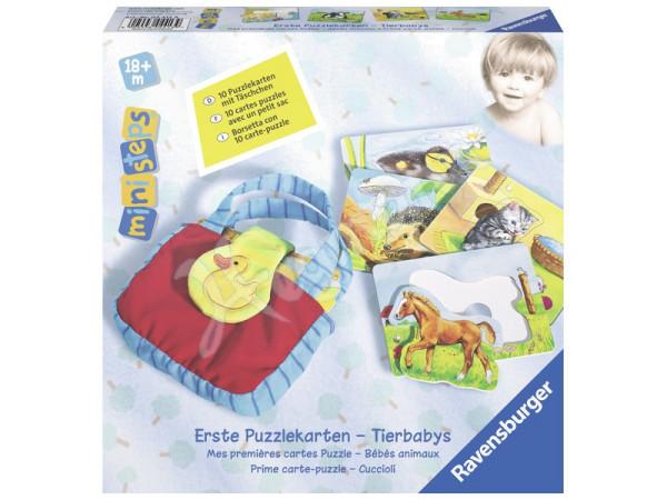 Ravensburger ministeps - Erste Puzzlekarten Tierbabys