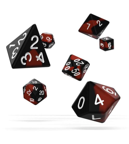oakie doakie DICE RPG Set Glow in the Dark - Lava (7)