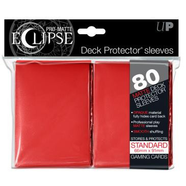 PRO-Matte Eclipse Red Standard Deck Protector sleeves 80ct