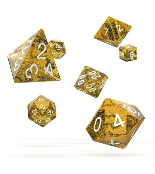 oakie doakie DICE RPG Set Speckled - Orange (7)