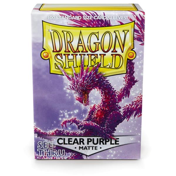 Dragon Shield: Matte Clear Purple (100) *limited*