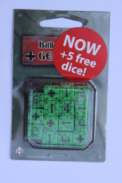 Axis & Allis Battle Dice Set German Schwarz Grün