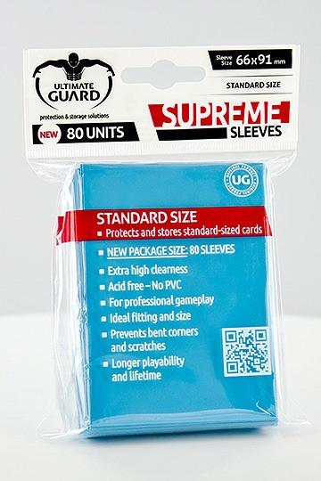 Ultimate Guard Supreme Sleeves Standardgröße Hellblau (80)