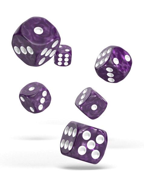 oakie doakie DICE D6 Dice 16 mm Marble - Purple (12)