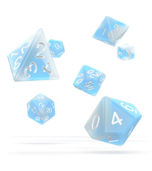 oakie doakie DICE RPG Set Glow in the Dark - Arctic (7)