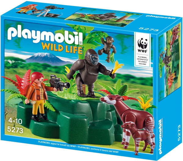 Playmobil 5273 - WWF-Zoologin bei Okapis und Gorillas